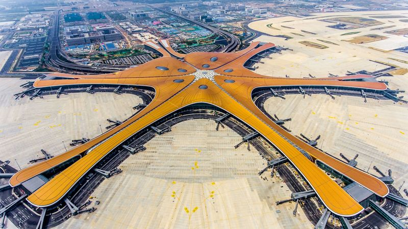 The new Beijing Daxing International Airport.