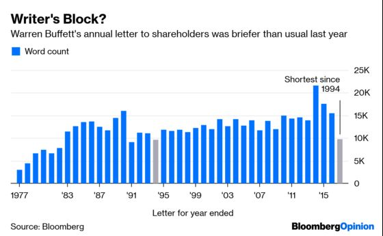 Warren Buffett Owes Investors More Than a Memo This Year