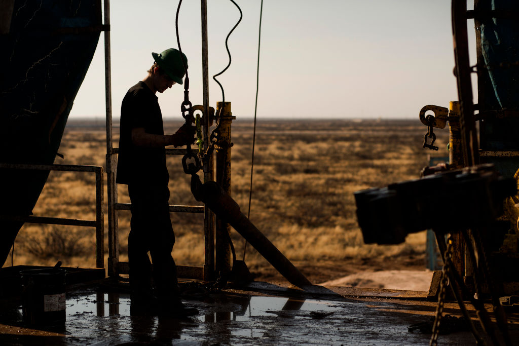 Operations in in the Permian basin outside of Midland, Texas.