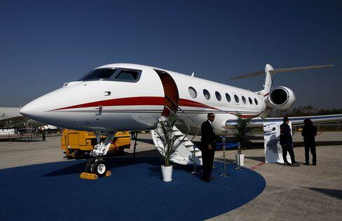 Gulfstream G650 business jet.