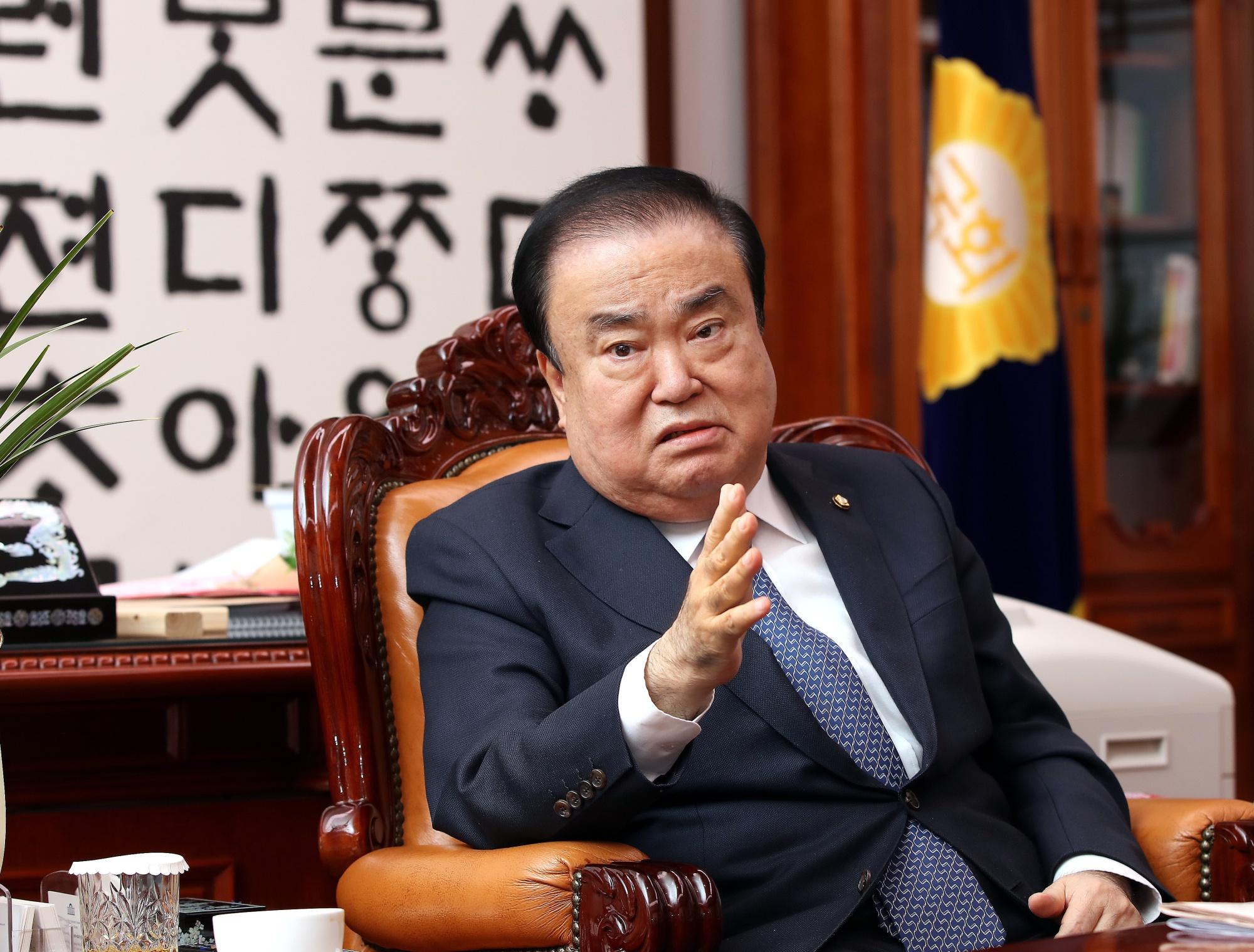 韓国国会議長、「天皇謝罪」要求発言で傷ついた人々に謝罪-聯合 ...