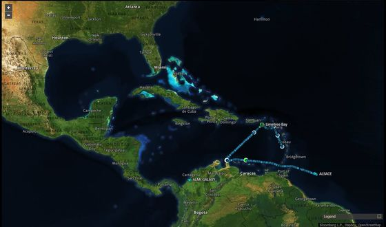 Supertanker Loads Up on American Oil Without Nearing the U.S.