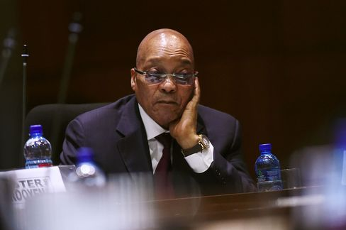 Jacob Zuma in the council chambers on April 7.