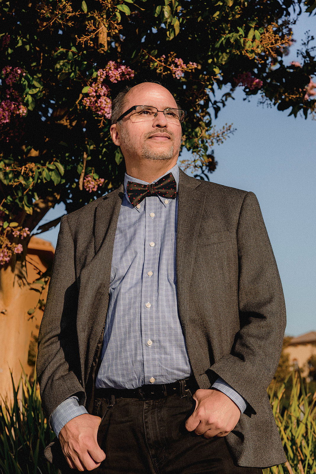 Peredo spent 18months looking for work before he took off his bow tie and landed a job.