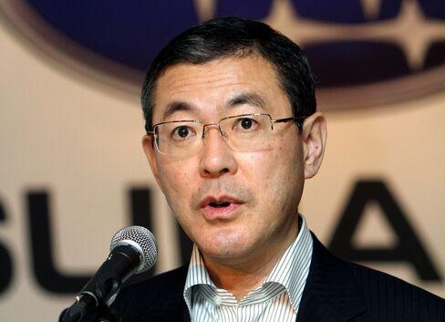 Fuji Heavy President Yasuyuki Yoshinaga