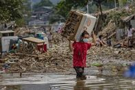 Residents Return In The Aftermath Of Typhoon Vamco