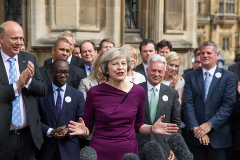 U.K. Home Secretary Theresa May Wins The Second-Round Ballot Of Conservative Party Lawmakers