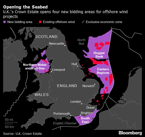 U.K. Set to Open $25 Billion Contest for Offshore Wind Farms