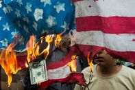 Demonstration On Anniversary Of U.S. Embassy Seizure