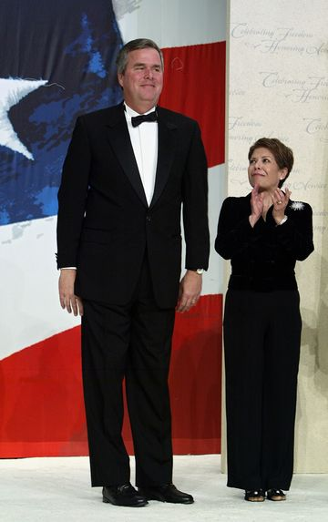 Florida goveror Jeb Bush and his wife Columba attend the Texas Wyoming Ball January 20, 2005 in Washington, DC.