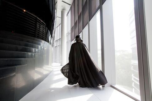 Actor dressed as Darth Vader