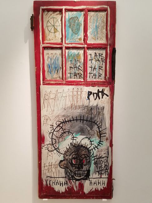 """""""Pork"""" by Jean-Michel Basquiat led Christie's auction in London on June 29."""