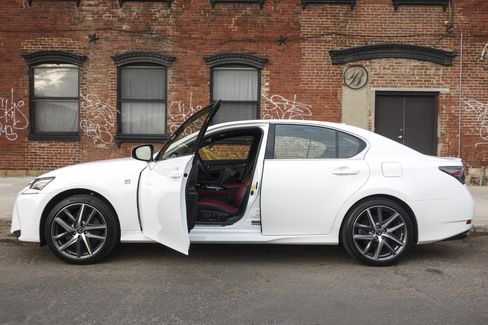 The F Sport package includes 19-inch alloy wheels and additional detailing on the rear lip.