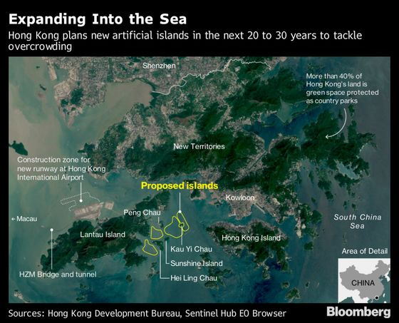 Hong Kong Has a $64 Billion Plan to Build Islands for New Homes