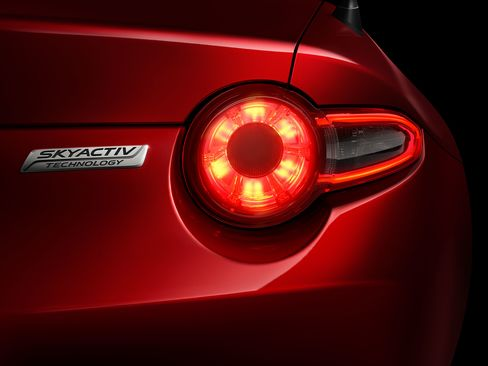 The rear tail light.