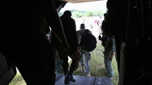 U.S. and Liberian Soldiers