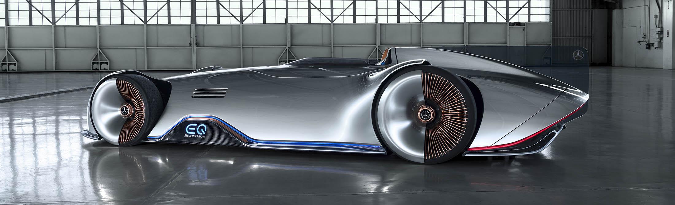 Mercedes New Concept Car Eq Silver Arrow Bloomberg