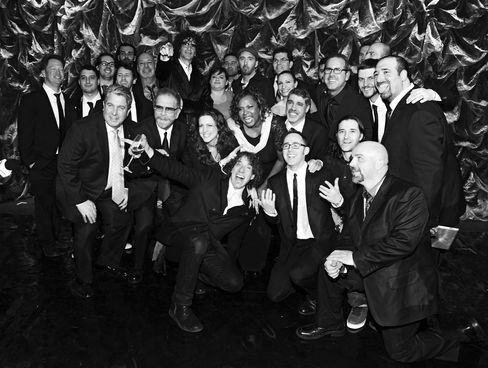 Stern and crew at his 2014 birthday party thrown by SiriusXM.