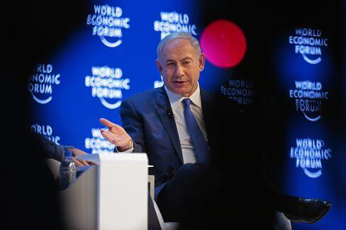 Benjamin Netanyahu speaks at Davos