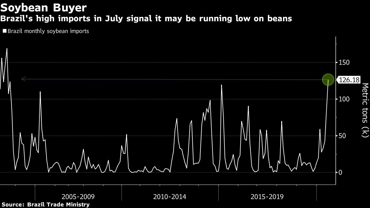 Brazil Can't Grow Enough Soybeans to Satisfy Chinese Demand