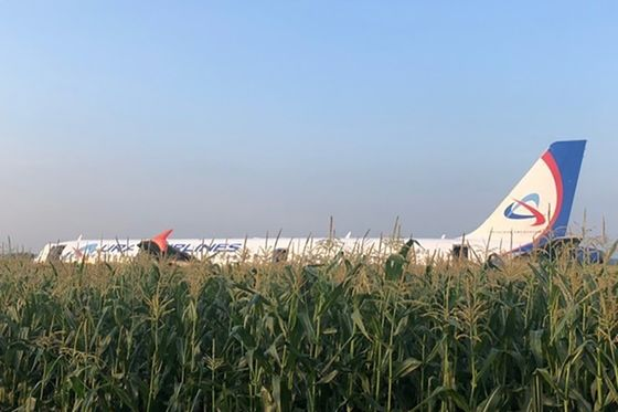 Russian Jet Averts Tragedy With Cornfield Crash Near Moscow