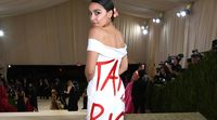 relates to AOC Wears 'Tax the Rich' Dress at New York Met Gala