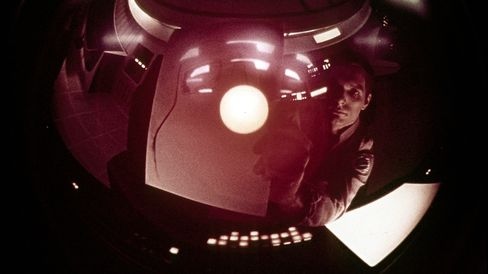 Actor Keir Dullea stars as astronaut David Bowman in a scene from the film