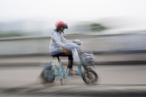 Electric bicycle in Haikou