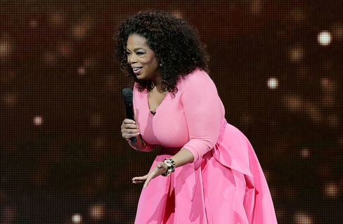 Oprah Winfrey on stage during her An Evening With Oprah tour on Dec. 12, 2015 in Sydney, Australia.
