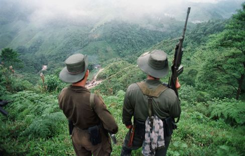 Two Armed FARC Guerrillas in Colombia