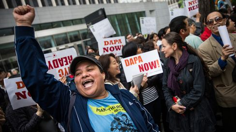 Immigration Activists Rally Against Challenges To Obama's Executive Order On Immigration