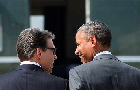 US President Barack Obama and Texas Governor Rick Perry