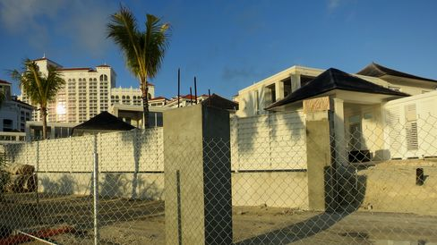 Fenced in Baha Mar Resort.