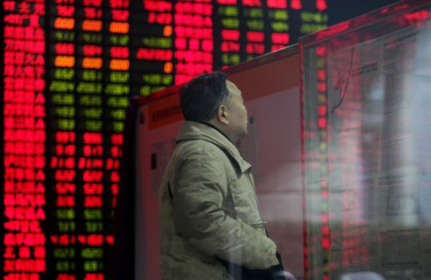 China's Stocks Gain After Shanghai Index Falls to One-Month Low