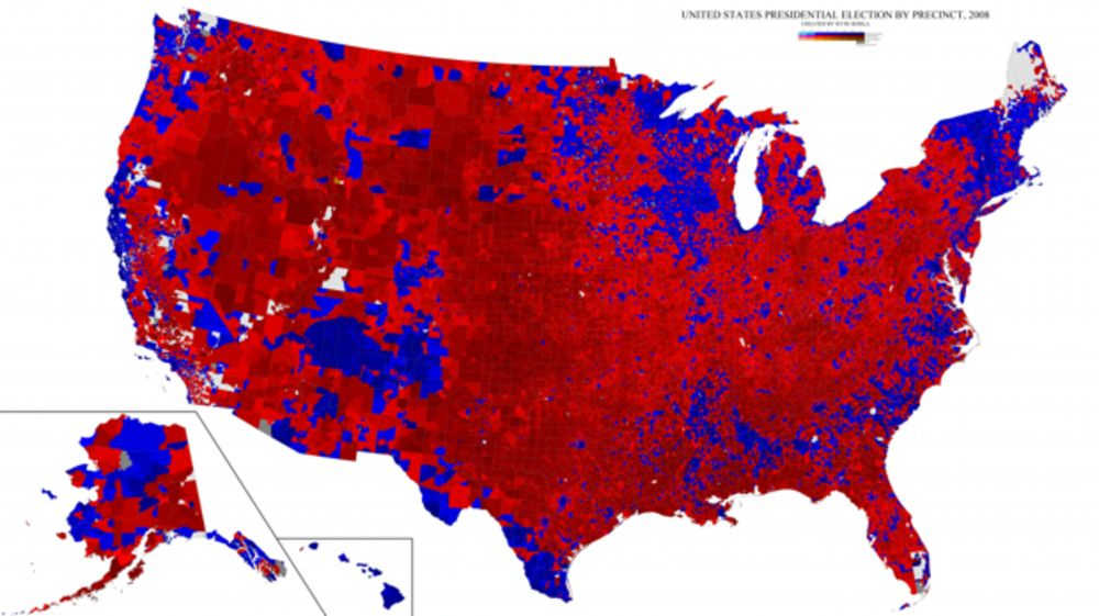 Map Of Precinct Reporting Of The 2016 Election Bloomberg