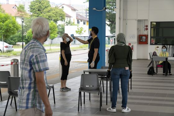 Singaporeans Head to thePolls as the City Grapples With the Virus
