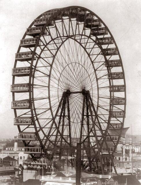 Ferris wheel, 1893.