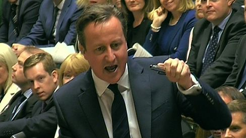 Prime Minister David Cameron speaks during Prime Minister's Questions in the House of Commons, London. Source: PA Wire
