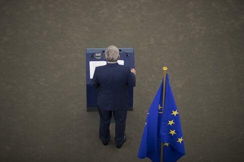 Jean-Claude Juncker in Strasbourg on Sept. 14.