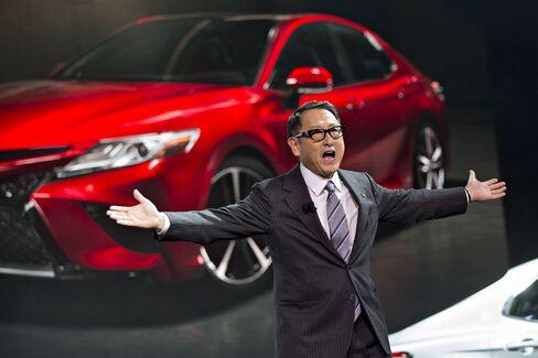 北米自動車ショーに出席した豊田章男社長
