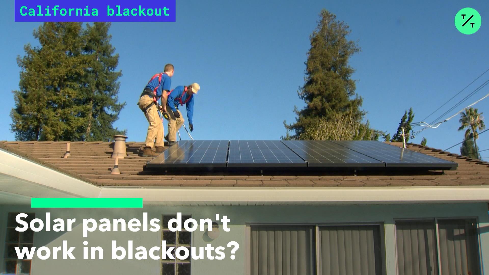 Solar Panels Don't Work In Blackouts?