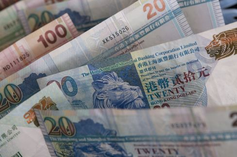 Hong Kong Intervenes to Defend Peg as Currency Tests Upper Limit