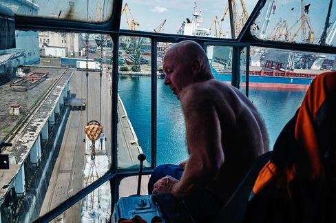 Vasiliy, 57, a dockworker for more than 40 years, has seen his income shrink to $100 per month since the Ukrainian currency collapsed six months ago.