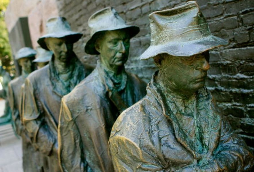 FDR Memorial Stands As Reminder To Past Economic Downtime