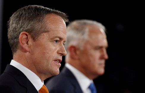 Bill Shorten and Prime Minister Malcolm Turnbull.