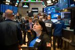 Trading On The Floor Of The NYSE As U.S. Stocks Jump With Peso