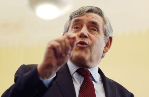Former U.K. Prime Minister Gordon Brown