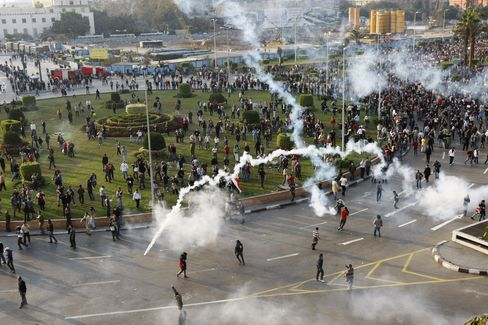Egypt Police Use Tear Gas to Break Up Cairo Protest