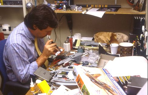 Mark Boudreaux working at the Kenner office in the late '80s.