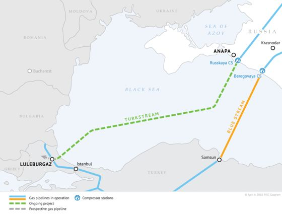 Russia Tightens Energy Grip on Turkey and Southern Europe